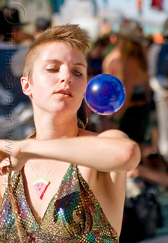 contact juggler, ball, burning man, center camp, contact juggling, sara, woman