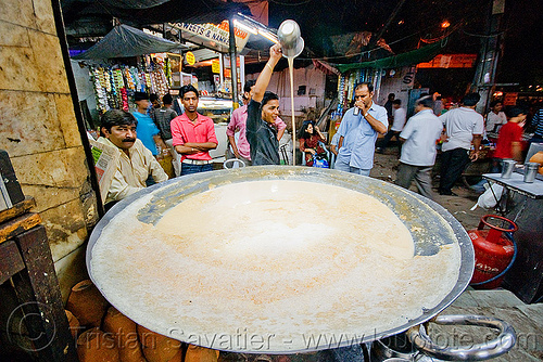 cooked milk street vendor - delhi (india), cooked milk, delhi, garam doodh, night, paharganj, pouring, street, vessel