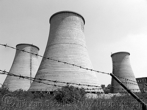 cooling towers - agrobiochim chemical plant (bulgaria), agrobiochim, barb wire, barbed wire, chemical plant, cooling towers, environment, fence, perimeter, pollution, security, stara zagora, trespassing, агробиохим, стара загора