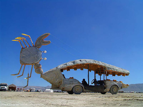 crab art car - burning-man 2004, art car, burning man, crab