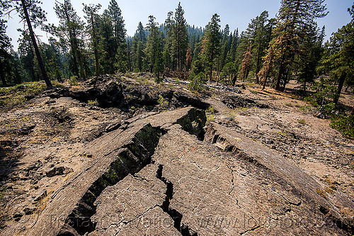 cracked lava flow, basalt, lava beds, rock formation, shasta-trinity national forest, volcanic