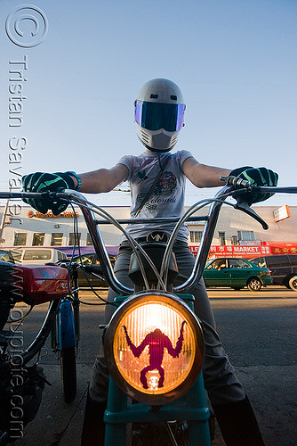 creatures of the loin - moped army (san francisco), full face helmet, headlight, moped army, mopeds, motorcycle helmet