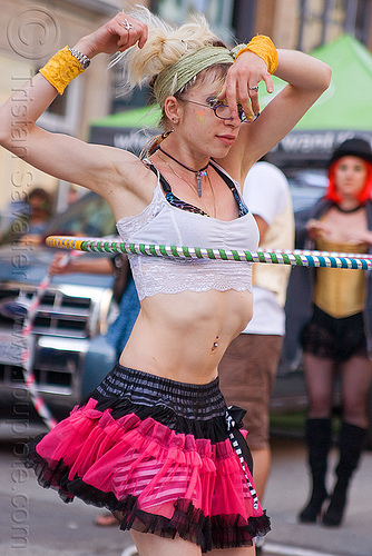 cressie mae hula hooping at how weird festival 2011 (san francisco), hooper, hulahoop, people, tutu, woman