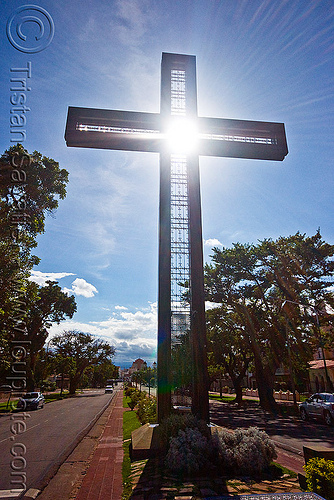cross monument - salta (argentina), argentina, backlight, cross, monument, noroeste argentino, salta, sun