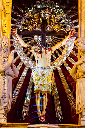 crucifix - salta cathedral (argentina), christ, church, corpus, jesus, noroeste argentino, religion, sacred art, salta capital, sculpture, statue