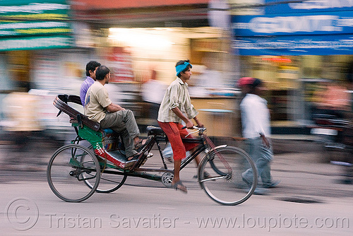 rickshaw, cycle rickshaw, delhi, men, moving, people, street, tricycle, wallahs