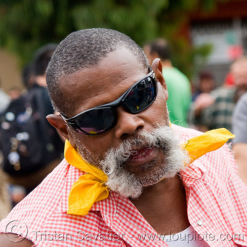 dale - dore alley fair (san francisco), african american man, beard, black man, dale, white mustache