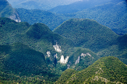 deer cave aerial (borneo), aerial photo, borneo, cave mouth, cliffs, deer cave, gunung mulu national park, hills, jungle, malaysia, mountains, natural cave, rain forest