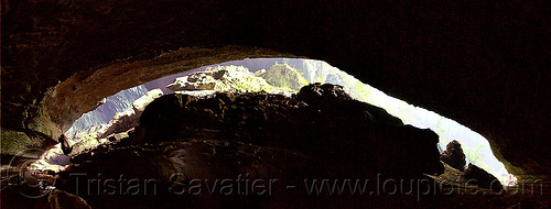 deer cave mouth - mulu (borneo), backlight, borneo, cave mouth, caving, deer cave, gunung mulu national park, malaysia, natural cave, spelunking, vault