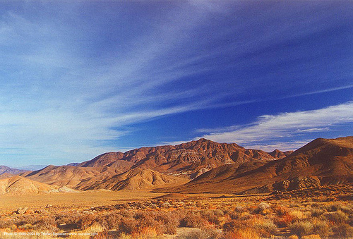 desert - goler canyon (california), blue sky, death valley, desert, goler canyon