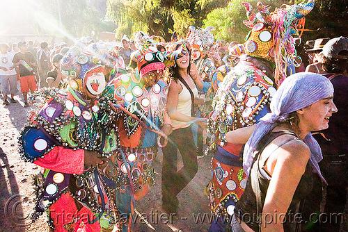 diablos - carnaval de tilcara (argentina), andean carnival, costume, diablo carnavalero, diablo de carnaval, folklore, horns, indigenous culture, man, mask, mirrors, noroeste argentino, quebrada de humahuaca, quechua culture, tilcara, tribal