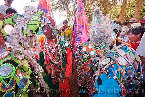 """diablos - comparsa """"los caprichosos"""" - carnaval de tilcara (argentina), andean carnival, comparsa, costume, diablo carnavalero, diablo de carnaval, flags, folklore, horns, indigenous culture, los caprichosos, man, mask, mirrors, noroeste argentino, quebrada de humahuaca, quechua culture, tilcara, tribal"""