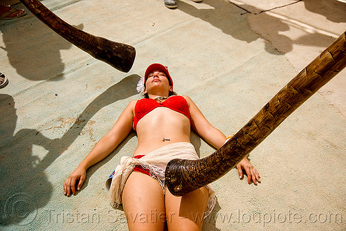 didgeridoo meditation, burning man, center camp, didgeridoos, meditation, people, woman