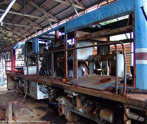 diesel-electric train engine, abandoned, atlantic railway, costa rica, decay, diesel-electric, locomotive, puerto limon, rusted, rusty, train depot, train engine, train yard, trespassing, urban exploration