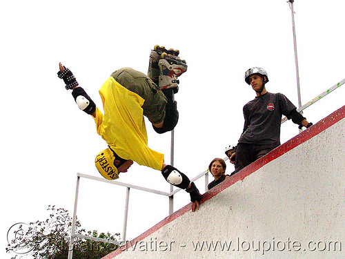disaster-man-skating - rollerblade stunt U (bulgaria), disaster, man, rollerblade, skateboard u, skateboarding helmet, skater, stunt, yellow, българия