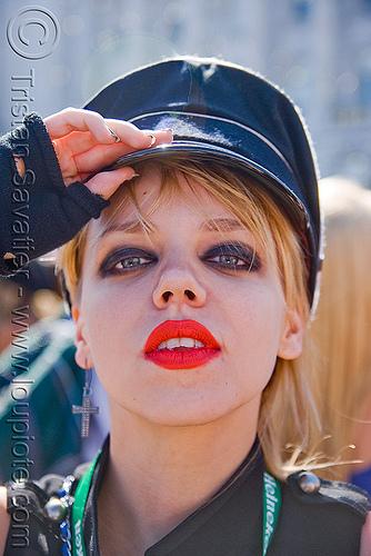 DJ loli - loliland, cap, festival, lipstick, love fest, lovevolution, makeup, people, red lipstick, woman