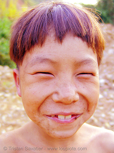 do I look chinese? - vietnam, child, hill tribes, indigenous, kid, man