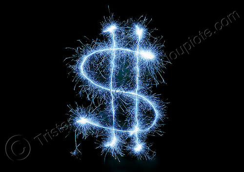 dollar sign - light painting with sparklers, dollar sign, dollars, light drawing, light painting, money, night, sarah, sparklers, sparkles, sparkling, symbol