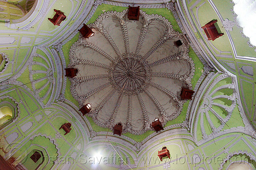 dome ceiling - bara imambara - lucknow (india), architecture, asafi imambara, bara imambara, ceiling, dome, india, islam, lucknow, monument, shia shrine, vault
