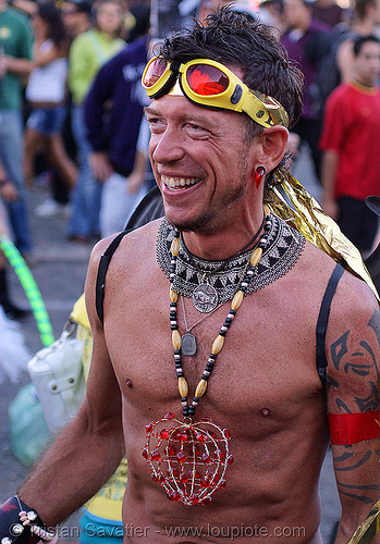don raber, fashion, festival, goggles, love fest, lovevolution, man, necklaces, people