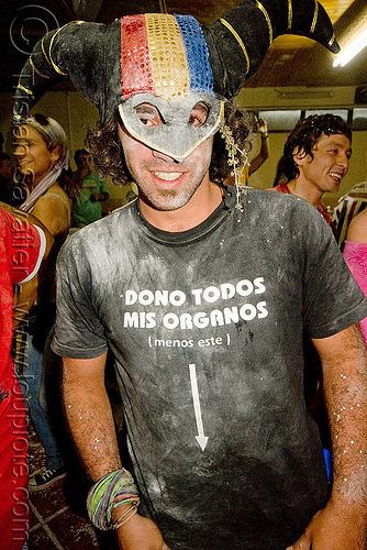 donación de órganos, andean carnival, carnaval, carnival mask, donacion, donación de órganos, man, noroeste argentino, organos, quebrada de humahuaca, talk powder, órganos