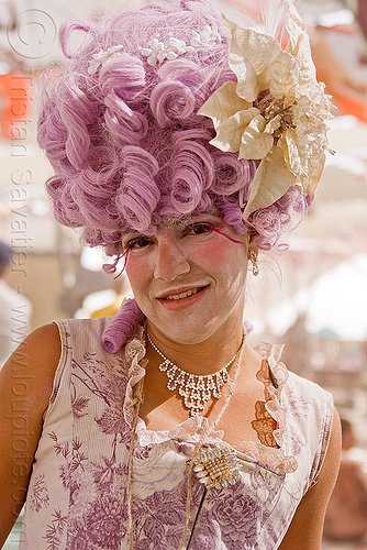 drag queen - burning man 2010, burning man, center camp, drag queen, pink wig, transvestite