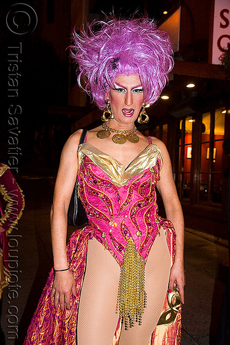 drag queen - halloween in the castro (san francisco), costume, crossdressing, man, night, people, transvestite