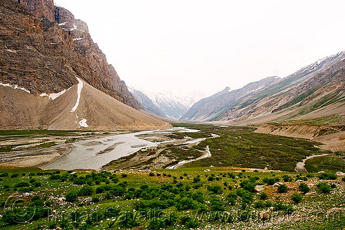 drass river - drass valley - leh to srinagar road - kashmir, dras valley, drass river, drass valley, kashmir, mountains, river bed, zoji la, zoji pass, zojila pass