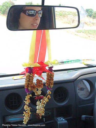 driving in thailand, anke rega, car, driving, rear view mirror, road, woman, ประเทศไทย