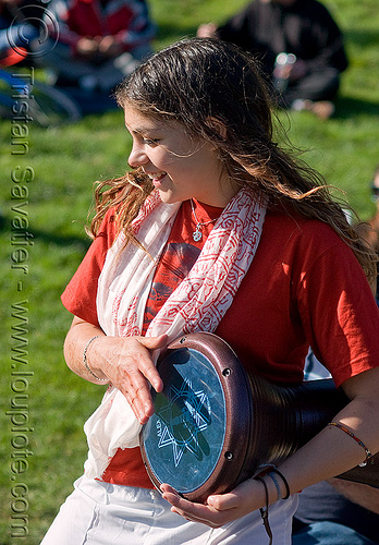 drummer girl - ahbra - golden gate park (san francisco), ahbra, djembe drum, drummer, woman