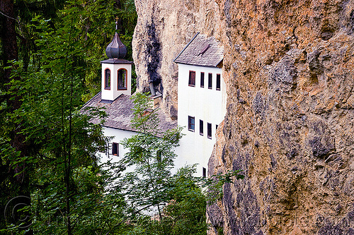 thorer kapelle - cave chapel - saalfelden, architecture, austria, austrian alps, cave chapel, cave church, cliff, einsiedelei, forest, hermitage, kapelle, mountains, saalfelden, trees