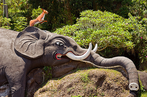 elephant sculpture in hindu temple (bali), bali, elephant sculpture, hindu temple, hinduism, indonesia, reindeer sculpture