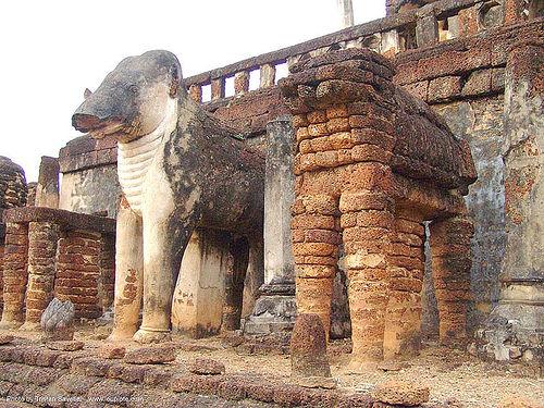 วัดช้างล้อม - elephants sculptures - wat chang lom - อุทยานประวัติศาสตร์ศรีสัชนาลัย - si satchanalai chaliang historical park, near sukhothai - thailand, amphoe si satchanalai, bricks, elephant sculpture, elephant statue, elephants, ruins, sculptures, temple, wat chang lom, ประเทศไทย, วัดช้างล้อม, อุทยานประวัติศาสตร์ศรีสัชนาลัย