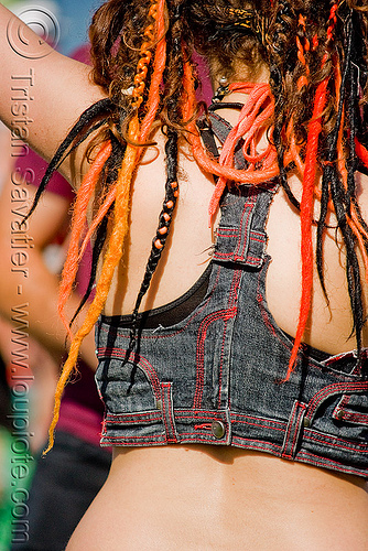 ellie's back, dreadlocks, dreads, ellie, woman