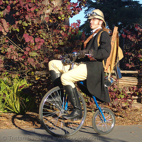 english man on velocipede (san francisco), bicycle, bike, british, colonial helmet, people