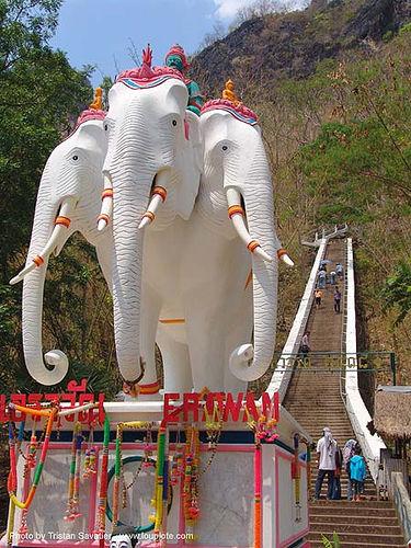 erawan - เอราวัณ - three-headed white elephant sculpture (aka airavata) - ऐरावत - indra - thailand, airavata, elephant sculpture, elephant statue, erawan, indra, three-headed white elephant, ऐरावत, ประเทศไทย, เอราวัณ