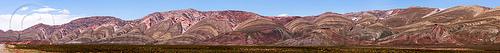 espinazo del diablo landscape panorama - quebrada de humahuaca (argentina), altiplano, erosion, mountains, noroeste argentino, pampa, stitched, tres cruces