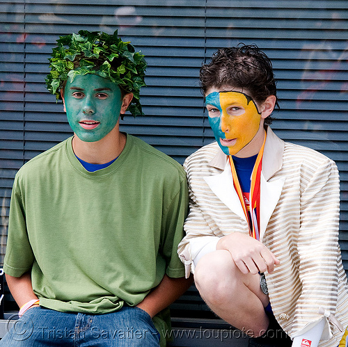 face paint - how weird street faire (san francisco), face painting, facepaint, guys, how weird festival, men