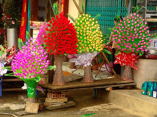 fake flowers - vietnam, fake flowers, flower shop, vietnam