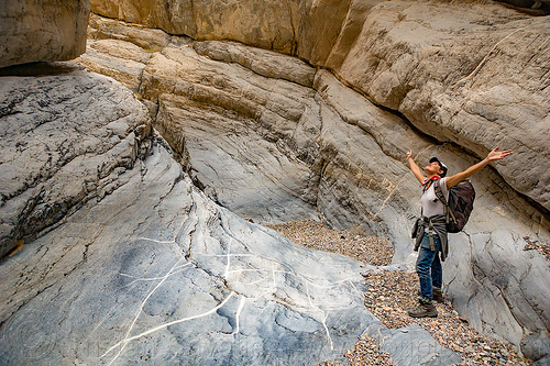 fall canyon - marble formation - death valley national park (california), death valley, fall canyon, hiking, marble rock, narrows