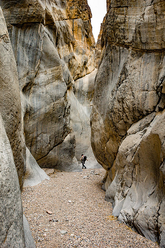fall canyon - marble rock in the narrows - death valley national park (california), death valley, desert, fall canyon, hiking, marble, narrows