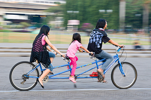 family riding triple tandem (jakarta), child, family, jakarta, kid, man, medan merdeka, merdeka square, moving, park, riding, road, tandem bicycle, tandem bike, triple tandem, triplet, woman