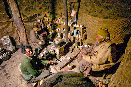 farmer's kitchen - pangong lake - ladakh (india), farmers, house, inside, kitchen, ladakh, spangmik