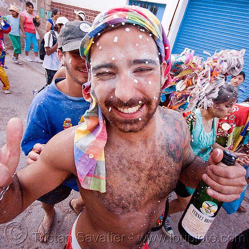 fernet branca - carnaval de tilcara (argentina), andean carnival, bottle, carnaval, fernet branca, man, noroeste argentino, quebrada de humahuaca, tilcara