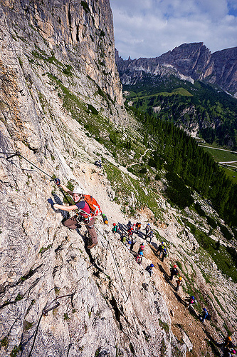 ferrata tridentina (dolomites), alps, cliff, climber, climbing harness, climbing helmet, dolomites, dolomiti, ferrata tridentina, mountain climbing, mountaineer, mountaineering, mountains, rock climbing, vertical, via ferrata brigata tridentina, woman