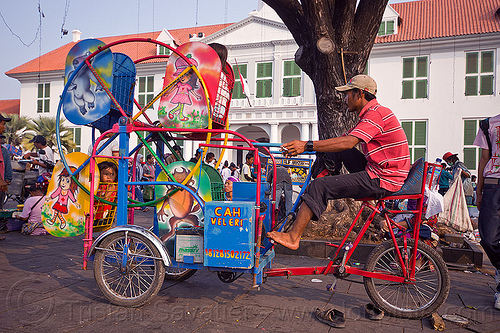 ferris wheel for small kids - cycle-powered, amusement ride, bicycle, bike, children, eid ul-fitr, fair ride, fatahillah square, ferris wheel, indonesia, jakarta, kids, taman fatahillah