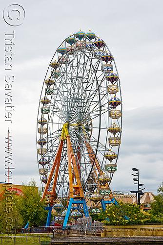 ferris wheel - parque de la costa - tigre (argentina), amusement park, delta de tigre, ferris wheel, river, tres bocas