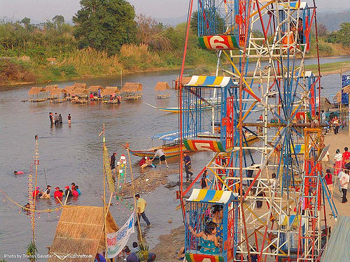 ferris wheel - river fair - tha ton - near fang (thailand), ferris wheel, festival, river fair, songkran, tha ton, water, ประเทศไทย, สงกรานต์