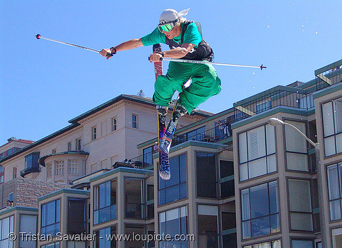 fillmore street ski jump, extreme sports, fillmore big air, fillmore st., fillmore street ski jump, icer air 2005