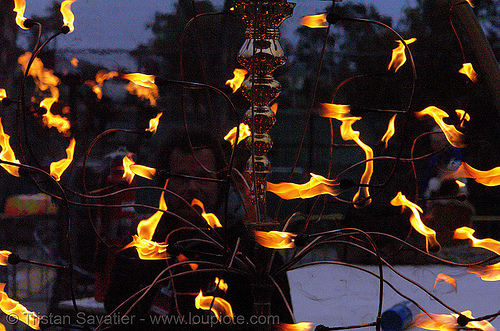 fire arts exposition 2006 - burning man, bob hofmann, burning man fire arts exposition, flames, wishing well